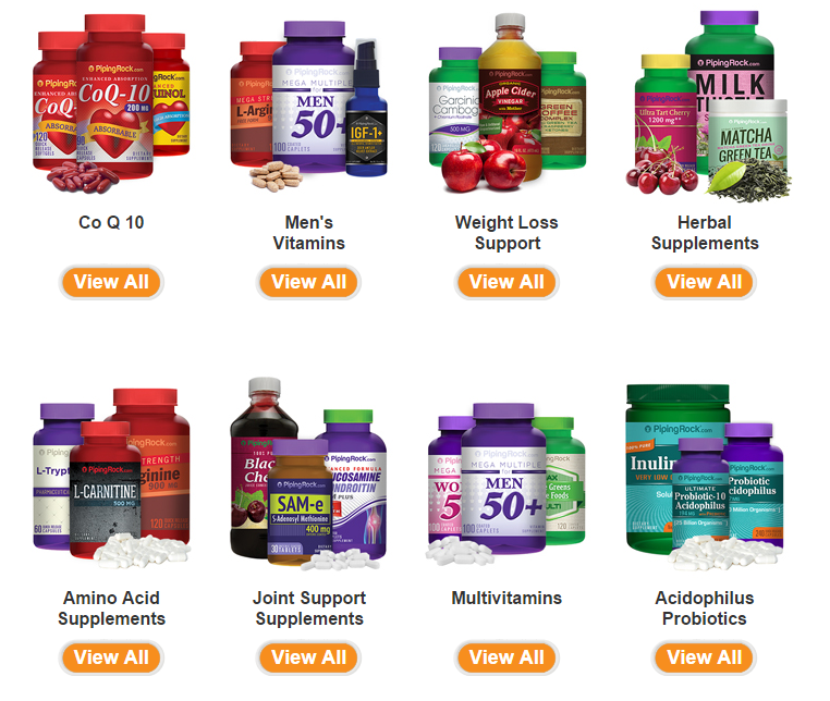 piping rock supplements and coupon code